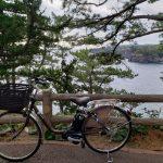 自転車で城ケ崎海岸へ